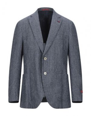 Пиджак ISAIA. Цвет: темно-синий