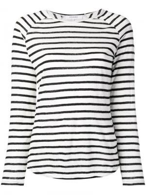 Longsleeved striped jumper FRAME. Цвет: белый