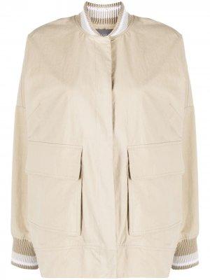 Легкая куртка-бомбер Lorena Antoniazzi. Цвет: нейтральные цвета