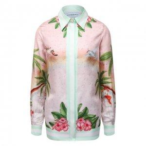 Шелковая рубашка Casablanca. Цвет: разноцветный