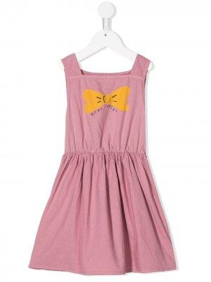 Платье с принтом Bobo Choses. Цвет: розовый