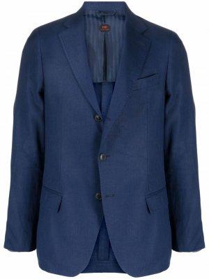 Пиджак Andy узкого кроя MP Massimo Piombo. Цвет: синий