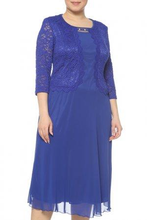 Платье CREDO. Цвет: голубой