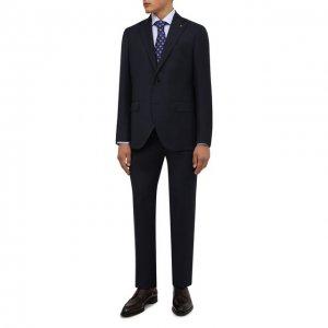 Шерстяной костюм Sartoria Latorre. Цвет: синий