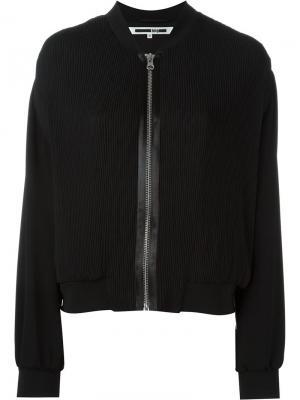 Pleated bomber jacket McQ Alexander McQueen. Цвет: чёрный