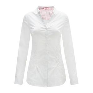 Блузка с длинными рукавами на шнуровке JOE BROWNS. Цвет: белый