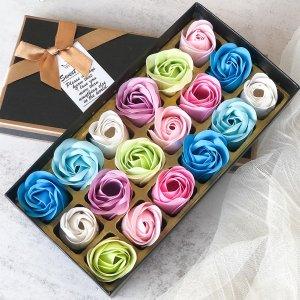 1 коробка Мыло искусственный цветок SHEIN. Цвет: многоцветный