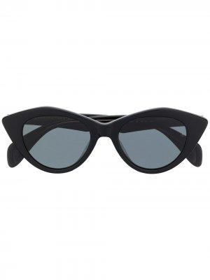 Солнцезащитные очки в оправе кошачий глаз RAG & BONE EYEWEAR. Цвет: черный