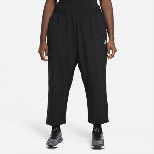 Женские брюки из тканого материала Air (большие размеры) - Черный Nike