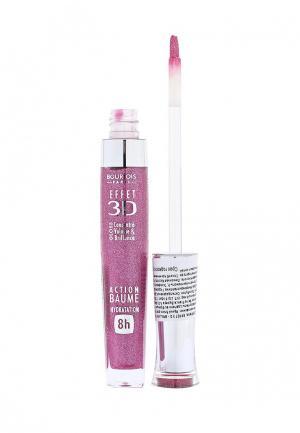 Блеск для губ Bourjois Effet 3D 23 тон framboise magnific. Цвет: фиолетовый