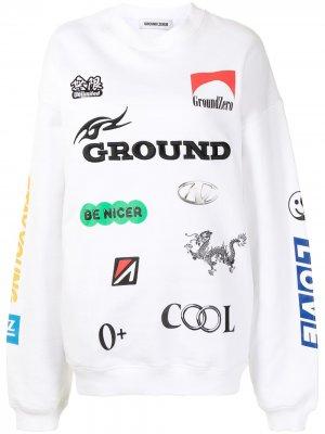 Свитер с логотипом Ground Zero. Цвет: белый