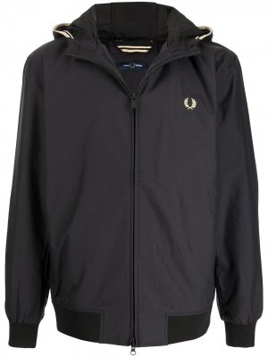 Куртка с вышитым логотипом FRED PERRY. Цвет: черный