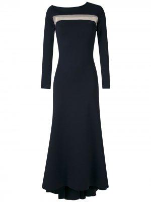 Платье миди с прозрачными вставками Gloria Coelho. Цвет: синий