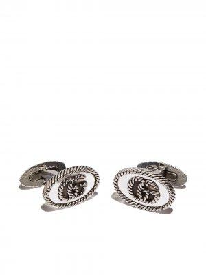 Серебряные запонки с логотипом GG Gucci. Цвет: серебристый
