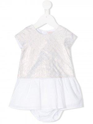 Платье с английской вышивкой Lili Gaufrette. Цвет: золотистый