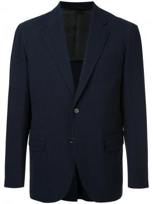 Однобортный пиджак United Arrows. Цвет: синий