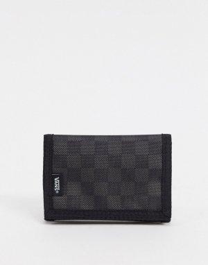 Черный бумажник в шахматную клетку Slipped-Черный цвет Vans