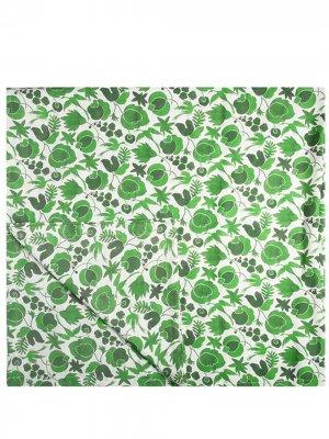 Скатерть с цветочным принтом La DoubleJ. Цвет: зеленый