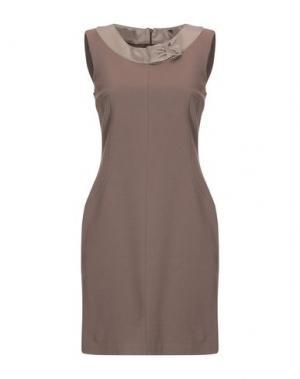 Короткое платье X'S MILANO. Цвет: светло-коричневый