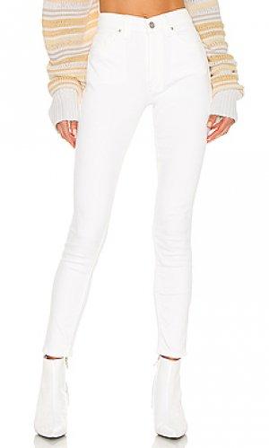 Скинни barbara Hudson Jeans. Цвет: белый