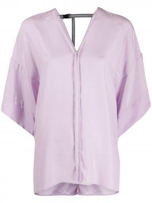 Блузка Agent A.F.Vandevorst. Цвет: фиолетовый