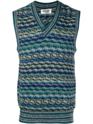 Вязаная жилетка с узором Missoni Vintage. Цвет: синий