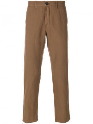 Классические зауженные брюки Eleventy. Цвет: коричневый