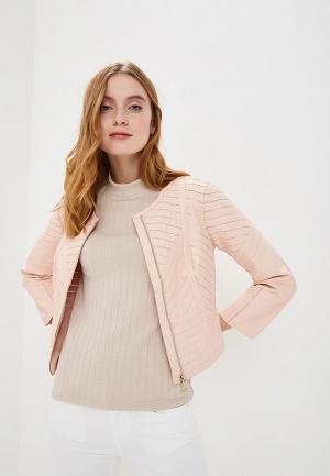 Куртка кожаная Silvian Heach. Цвет: розовый