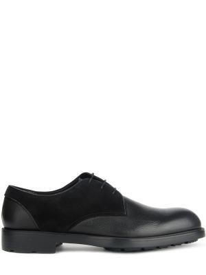 Комбинированные туфли-дерби MORESCHI. Цвет: черный