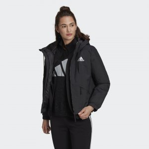Утепленная куртка с капюшоном Back to Sport Sportswear adidas. Цвет: черный