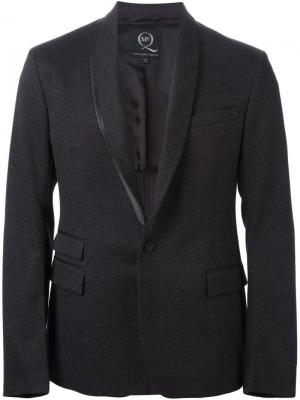 Пиджак смокинг с контрастной окантовкой McQ Alexander McQueen. Цвет: серый