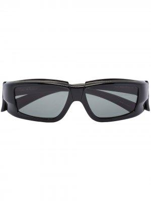 Солнцезащитные очки Silver в квадратной оправе Rick Owens. Цвет: белый