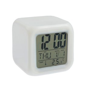 Часы-будильник luazon lb-03, дата, температура, пластиковый корпус, белые Home