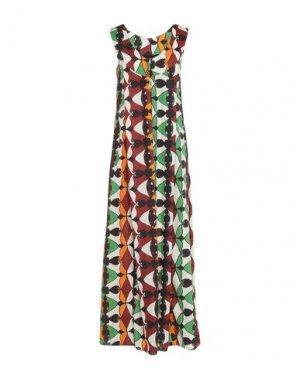 Длинное платье HACHE. Цвет: зеленый
