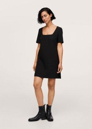 Платье с короткими рукавами - Mila Mango. Цвет: черный