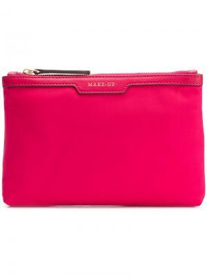Косметичка с карманом Anya Hindmarch. Цвет: розовый