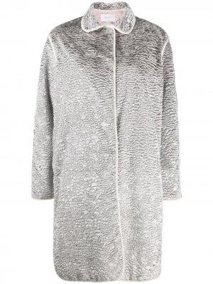 Фактурное пальто с эффектом металлик Giambattista Valli. Цвет: серый