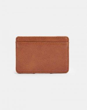 Светло-коричневая кредитница -Коричневый цвет Topman