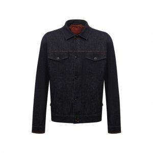 Джинсовая куртка Cortigiani. Цвет: синий