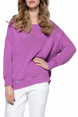 Свитер FIMFI. Цвет: фиолетовый