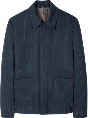 Куртка-рубашка в тонкую полоску PAUL SMITH. Цвет: синий