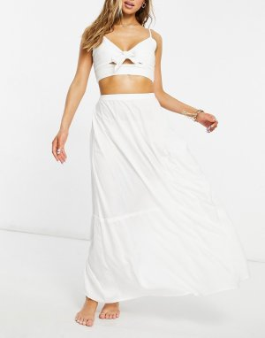 Белая пляжная юбка макси Esmee Exclusive-Белый Esmée
