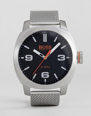 Часы с черным циферблатом By Hugo Boss Cape Town-Серебряный Orange