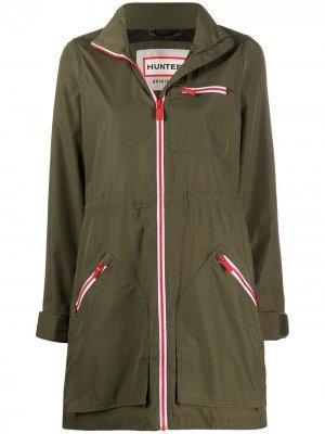 Куртка на молнии с длинными рукавами Hunter. Цвет: зеленый