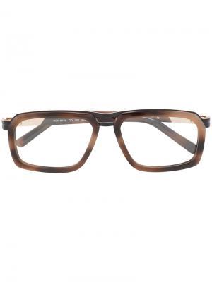 Очки в прямоугольной оправе Cazal. Цвет: коричневый