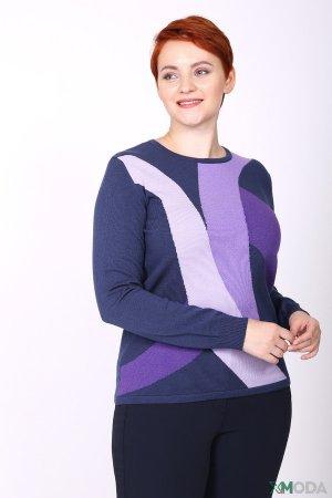 Пуловер Lebek. Цвет: разноцветный