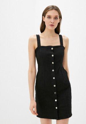 Платье джинсовое adL. Цвет: черный