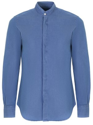Рубашка хлопковая slim fit CANALI