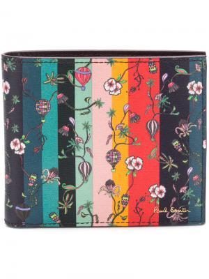 Полосатый кошелек с цветочным принтом Paul Smith. Цвет: многоцветный