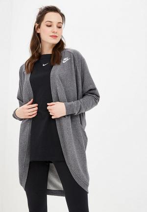 Кардиган Nike SPORTSWEAR CLUB WOMEN?S FRENCH TERRY CARDIGAN. Цвет: серый